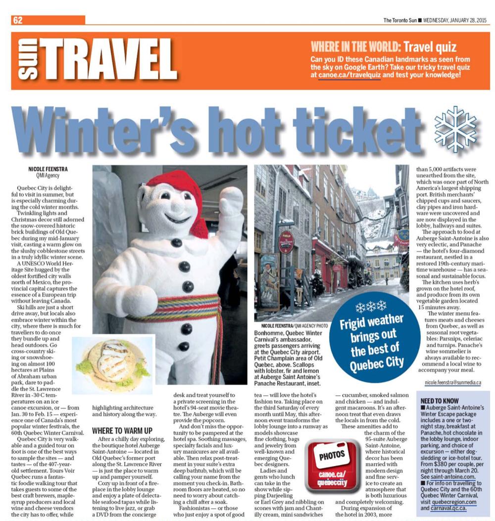 Winter's hot ticket<br>TORONTO SUN