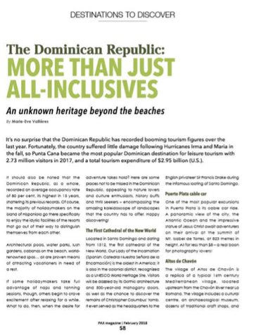The DR: More Than Just All-Inclusives<br>PAX MAGAZINE