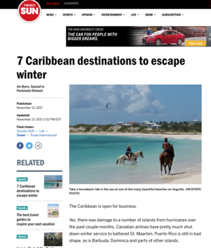 7 Caribbean destinations to escape winter<BR>TORONTO SUN