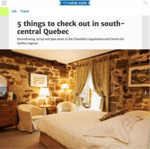 5 Things To Check Out In Quebec<br>TORONTO STAR