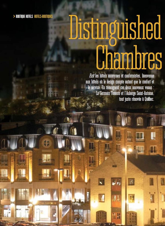 Distinguished Chambres<br>VIA RAIL MAGAZINE