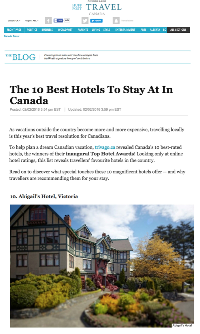 The 10 Best Hotels To Stay At In Canada<br>HUFFINGTON POST