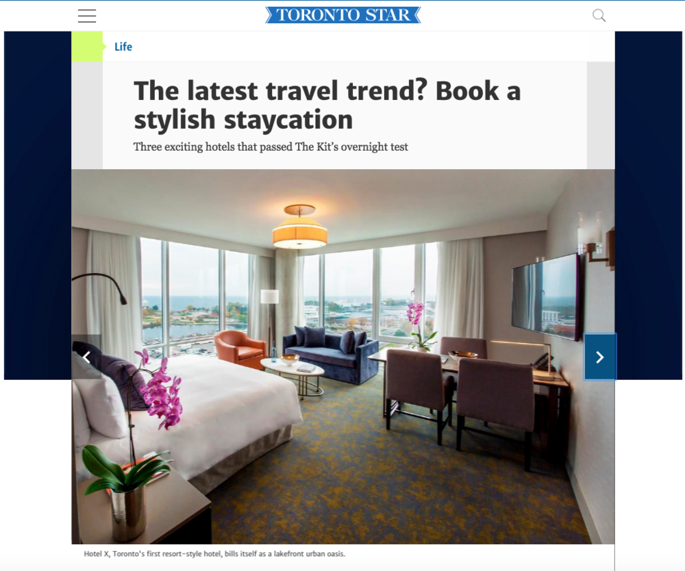 Stylish Staycations in Toronto<br>THESTAR.CA