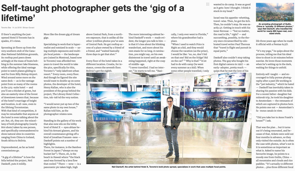 Self-taught photographer gets the 'gig of a lifetime'<br>TORONTO STAR