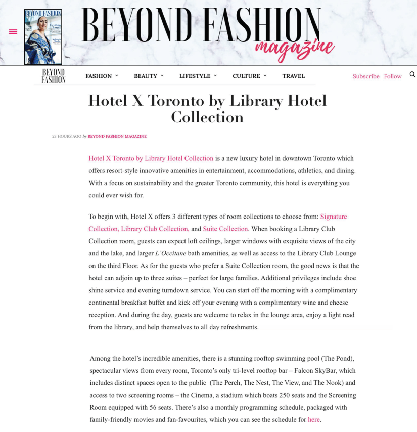 BEYOND FASHION MAGAZINE