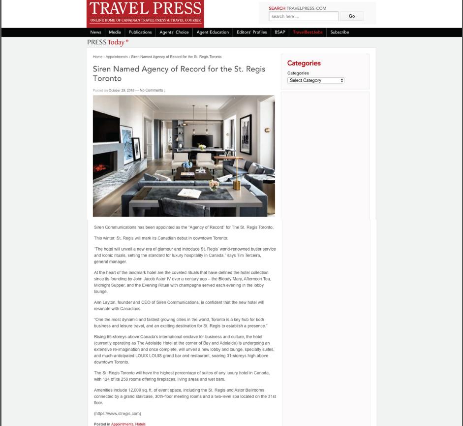 TRAVEL PRESS