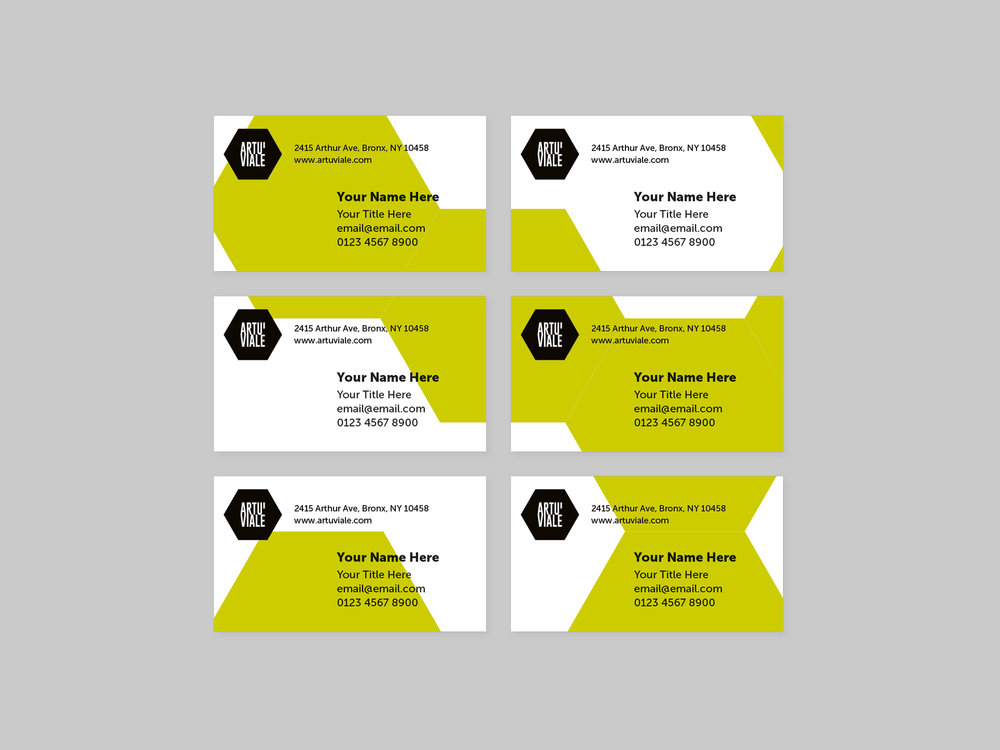 Artu' Viale brand identity designed by Petr Dubecky & Iku Okada