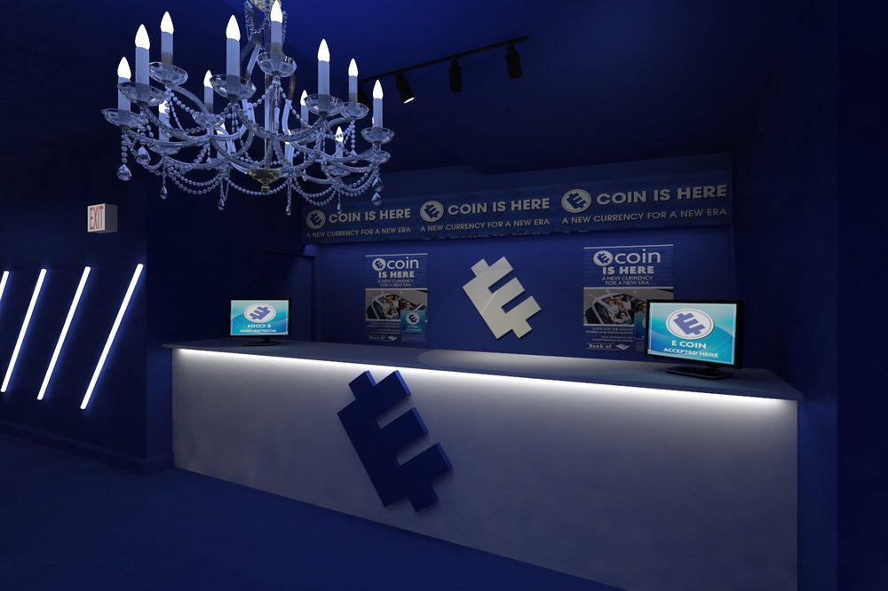 E-Coin merch booth