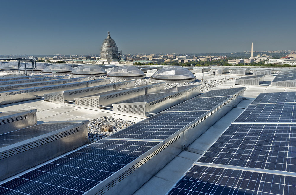 Hart Senate Office Building Rooftop PV Panel Installation