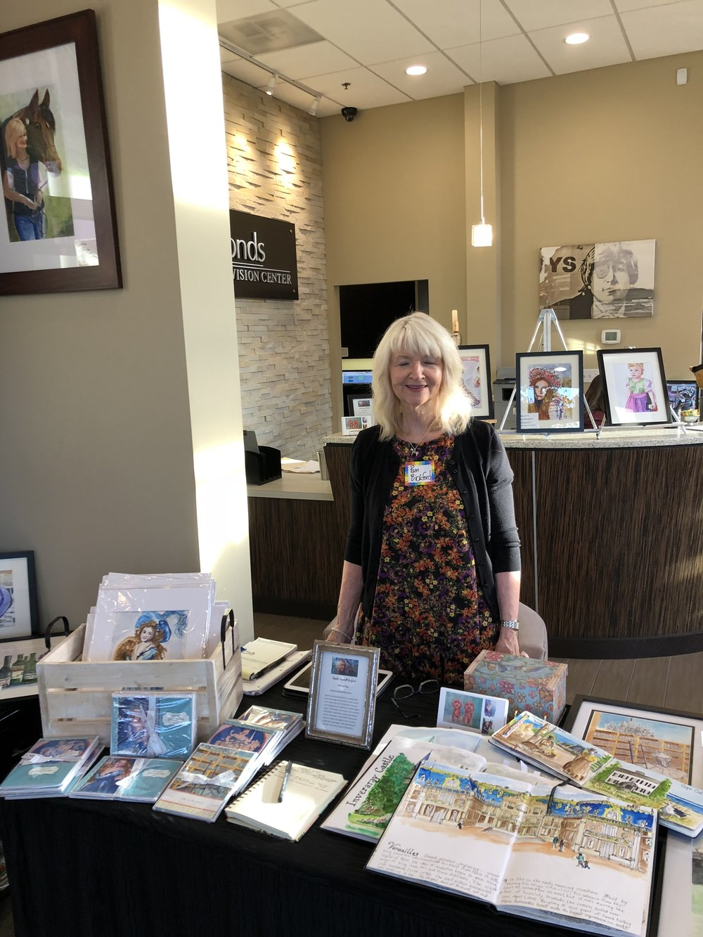 Last Thursaday was a wonderful evening at Art Walk Edmonds!  Thank you to AWE and the Enhanced Vision Center for hosting me!  My large paintings will be up on their Art Wall through November 16, 2018.  I hope you'll drop by to see them.  Enhanced Vision Center, 201 5th St. S., Edmonds, Washington  This week I will have other paintings , prints and cards at the Christmas at North Creek Holiday Boutique  on Thursday, 10/25, 10-6, Friday, 10/26, 10-6, and Saturday, 10/27, 10-4!  Christmas At North Creek, 621 164th St. SE, Mill Creek, Washington 98012  20% of all sales of this event go to suppor the Children's Hospice of St. Petersbur, Russia.