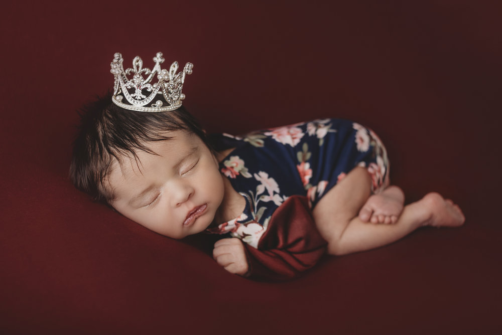 Perfect little princess. Mom brought in the perfect crown.