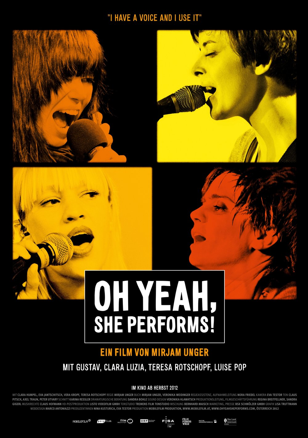 Oh Yeah, she performs! (2012 )