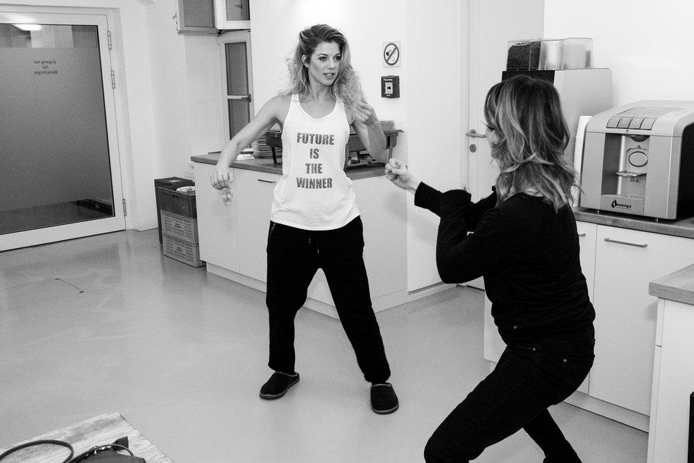 Boxtraining mit Hilde Dalik Foto (c) Pamela Russmann