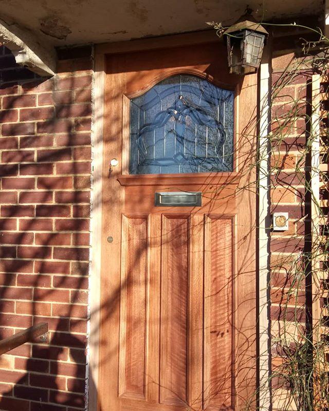 Beautiful hardwood door fitted in Bishopstoke. #propertymaintenance #door #building