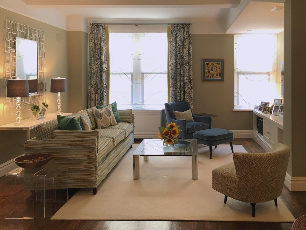 Custom Window Treatments, Pillows, And Furniture With Playful Patterns  Create A Warm And Inviting Living Room.