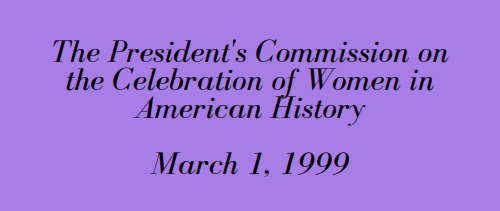 *President's Commission on the Celebration of Women in American History