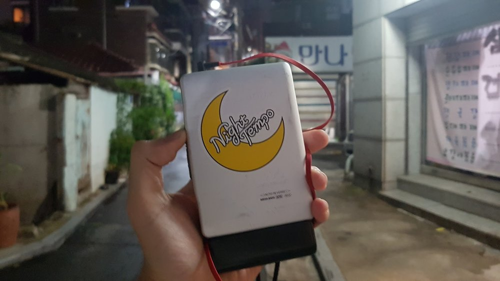- My Companion Sony Walkman with Night Tempo sticker on it. :)
