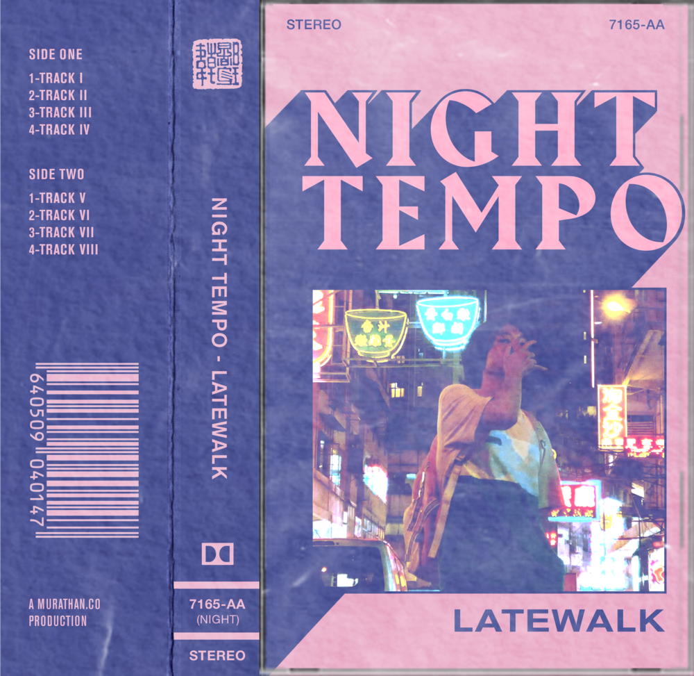 CASSETTE CASE COVER ART FOR NIGHT TEMPO / MACKLEMORE GLORIOUS STYLE