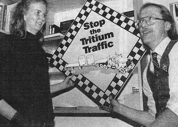 Irene Kock and Dave Martin of Durham Nuclear Awareness (Dec 11, 1987, The Oshawa Times)