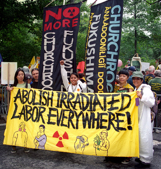 Marchers in the Nuclear-Free, Carbon-Free Contingent at the historic People's Climate March in New York City September 21, 2014.