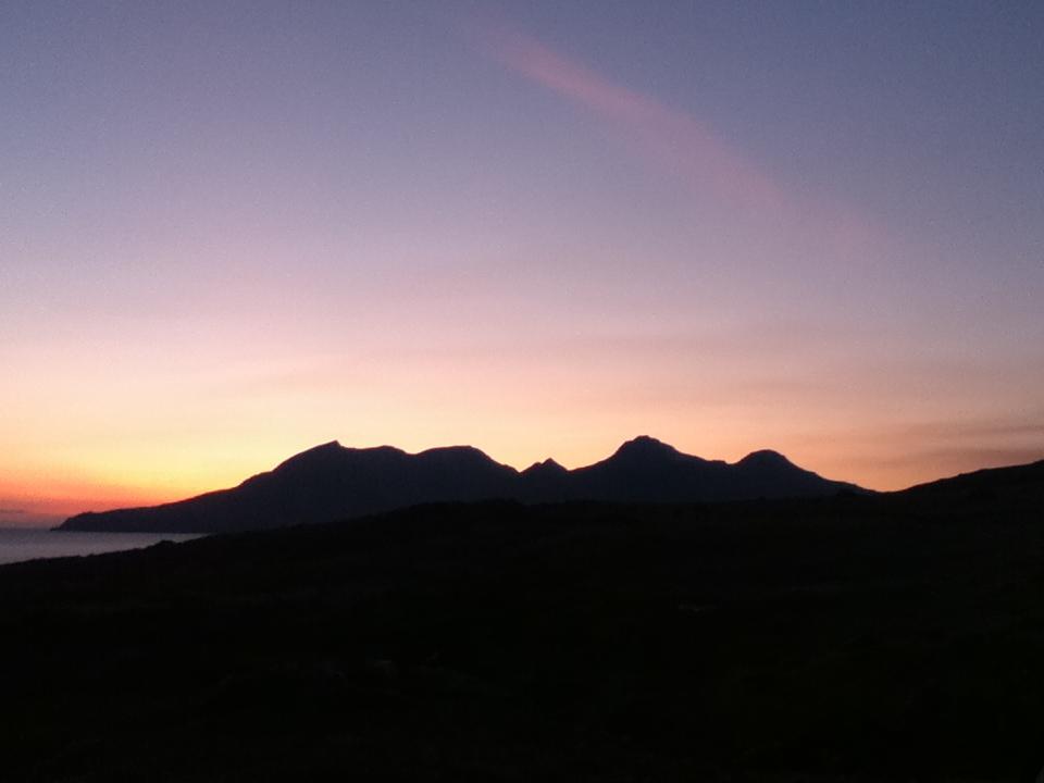 Sunset over Isle of Rum -  Tour & Walk in small groups - Roaming Scotland..jpg