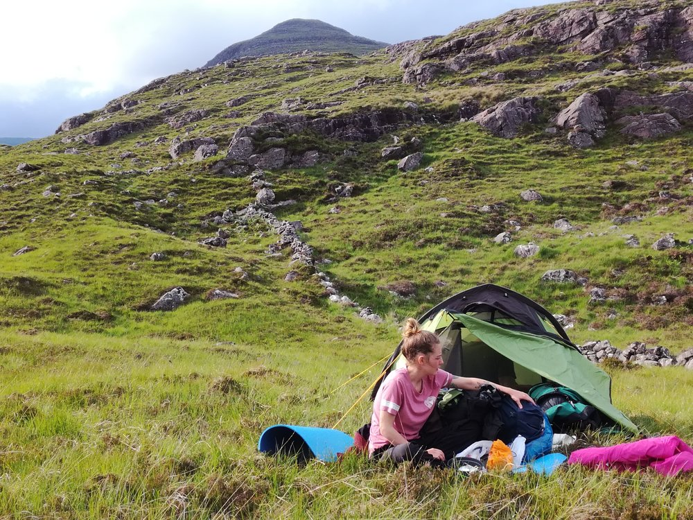 wild camping in the Applecross Hills, Scottish Highlands, Scottish tours with walks, small group adventures, Roaming Scotland.jpg