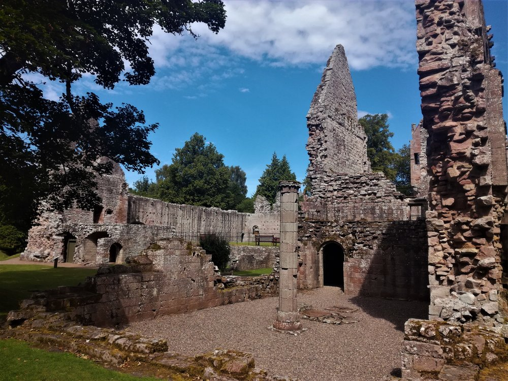 Dryburgh Abbey, Scottish Borders - Day tours with walks from Edinburgh, small group adventures, Roaming Scotland.JPG