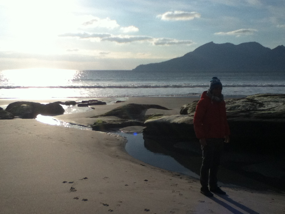 Isle of Rum from Eigg, Scottish Hebrides,tours with walks, small group adventures, Roaming Scotland .JPG