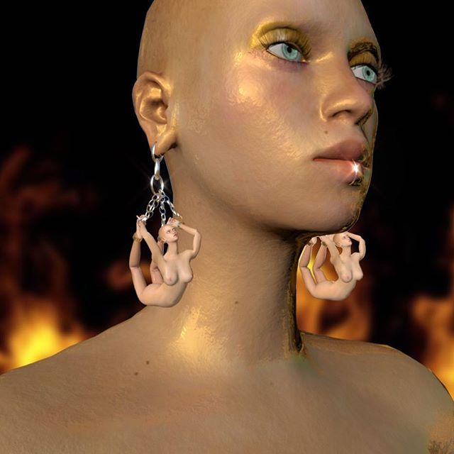 It's Wednesday- time to pull a hot mid week look. This is ours . . . . #art #3dmodeling #animation #cgi #rendering #girlswhorender #photooftheday #3d #femme #cg #3dart ##character #design #digital #digitalart #virtualreality #virtual #beautiful #artistsoninstagram #artwork #earrings #jewelry #hot #fire #chain #selenagomez #jewelrydesign  #nude
