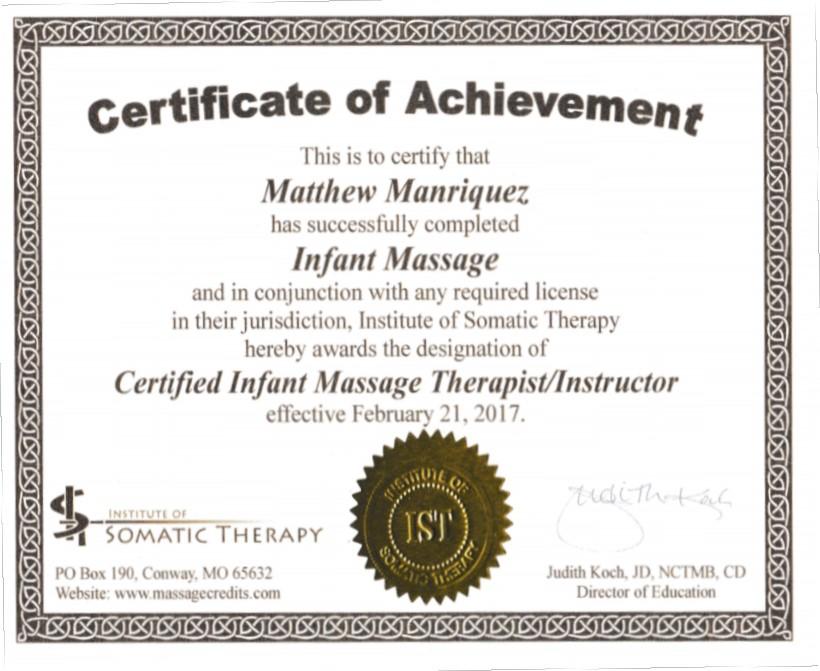 Infant Massage — Matthew Manriquez