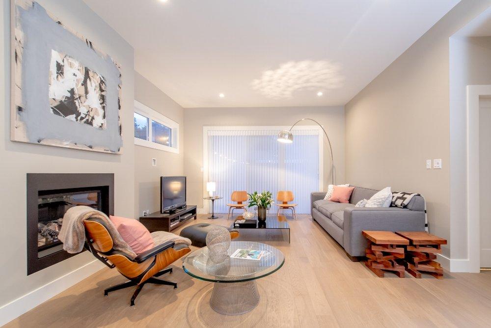 Great room at Fourth Avenue West, Qualicum Beach home.jpg