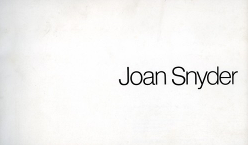 Joan Snyder - Exhibition catalog, essay by Hayden Herrera, Los Angeles Institute of Contemporary Art, Century City, CA, 1976