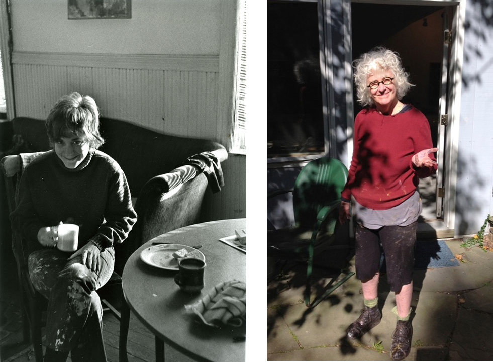 Photos by Larry Fink, 1970 and Maggie Cammer, 2014