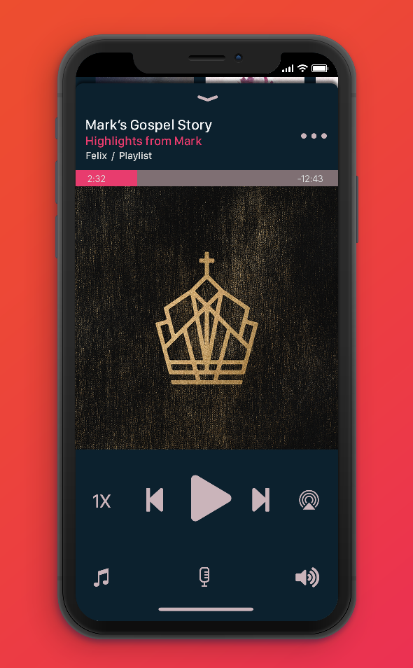 Shhhh! Enjoy this sneak peek of the audio player as we continue to refine the design.