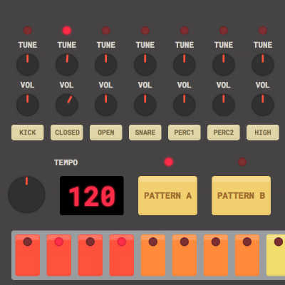 HTML 5 Drum Machine