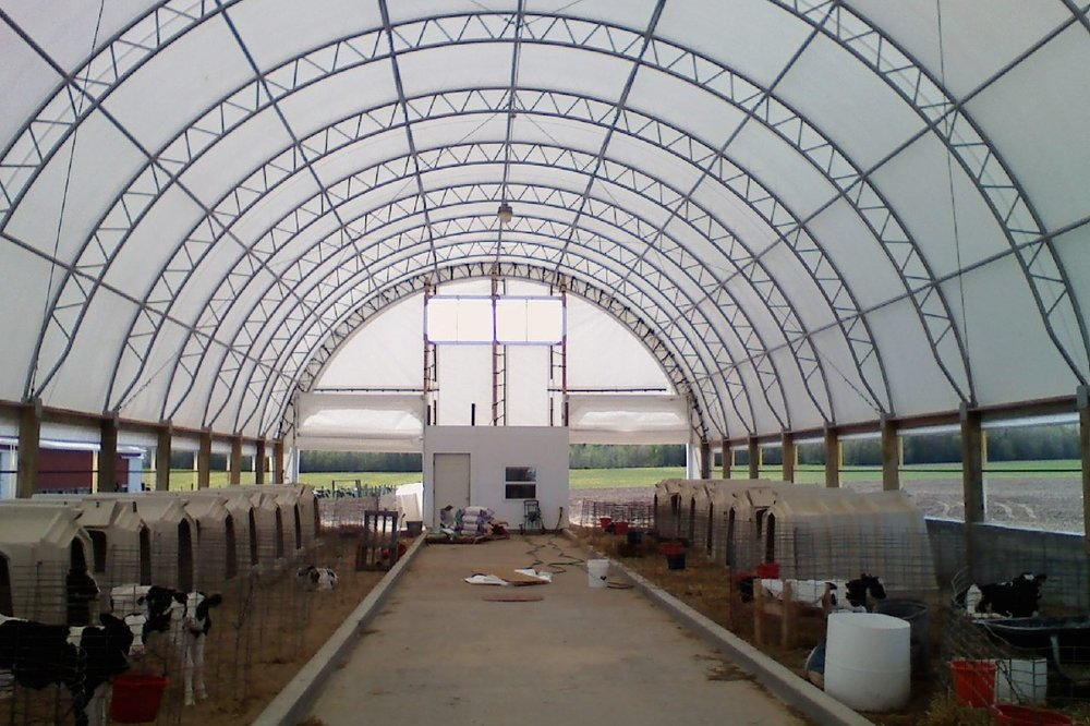 Fabric Building Calf Barn