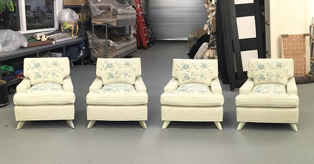 Restoration completed on four original Billy Haines chairs in Trapunto and Crewel. We want to thank @fret_fabrics for sourcing the fabric to match the original and @pennandfletcher for the beautiful work they did replicating the Trapunto and Crewel. #restoration #handcrafted #billyhaines #interiordesign #interiordecor #homedecor #decor #interiordecorating #interiordesigner