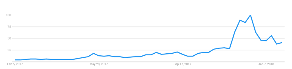 Google Trends: bitcoin (1 year)