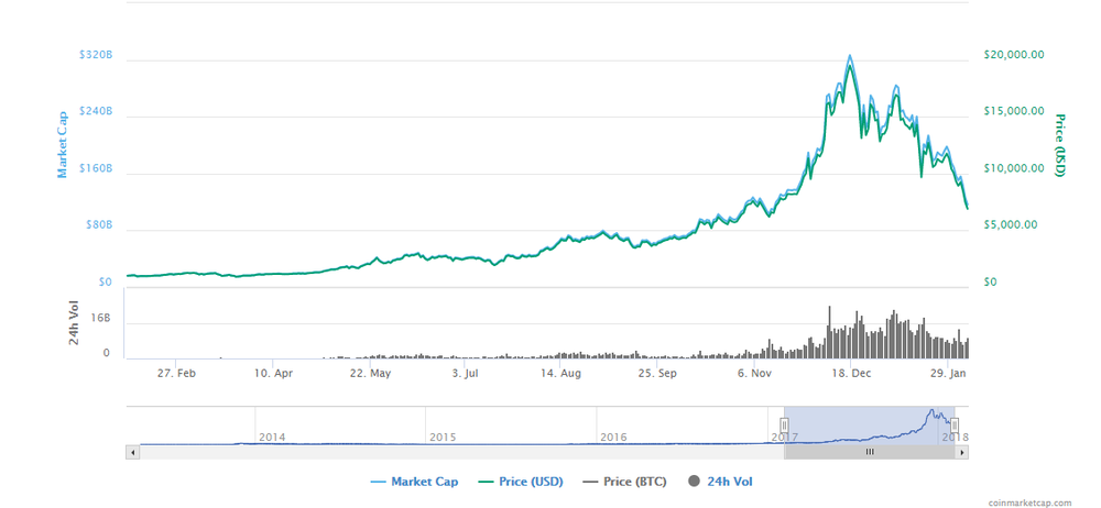 CoinMarketCap.com - bitcoin price/market cap chart (1 year)