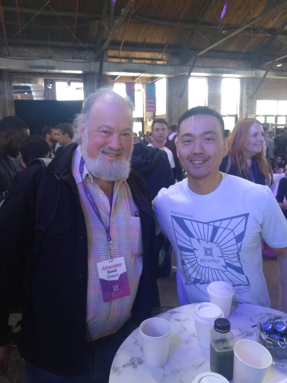 Meeting David Chaum was great. His project may be controversial, but his contributions are undeniable.