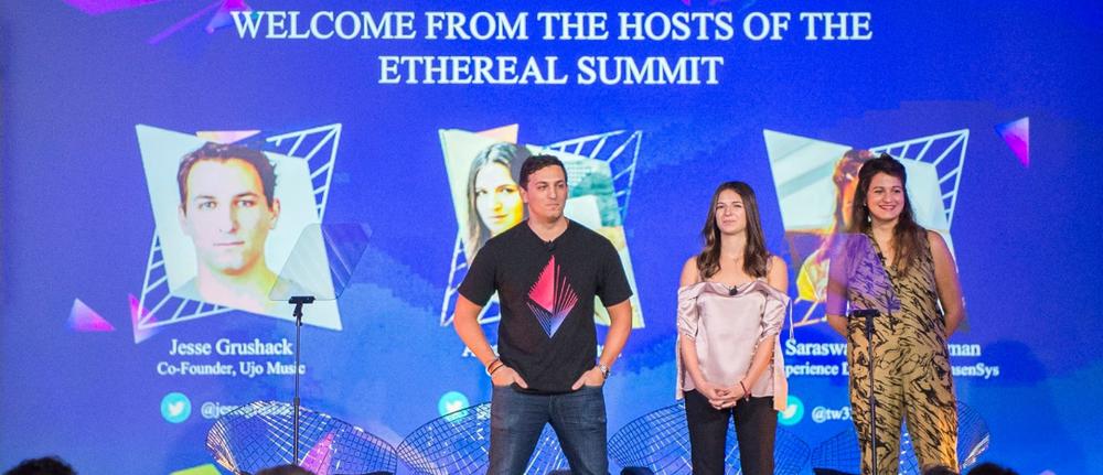 Creators of the Ethereal Summit: Left: Jesse Grushack, Middle: Amanda Gutterman, Right: Saraswthi Subbaraman