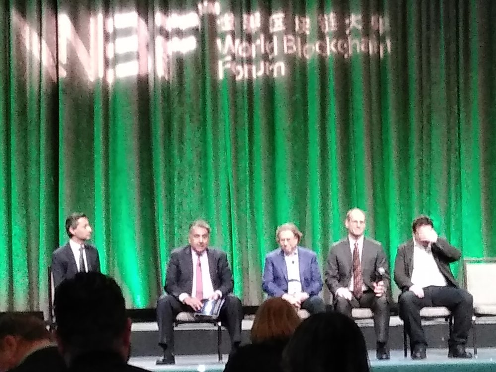 """From left to right:    Agha Khan , Head of Global Risk at EY, Advisory Services at KPMG (moderator)   Christopher Cutler , Former Chair of the New York Society of Securities Analysts' Alternative Investment Committee   Sujit """"Bob"""" Chakravorti , CEO at Chakra Advisors, Former Federal Reserve Economist   Manny Alicandro , Partner at O'Neil & Partners, Former Candidate for NYS Attorney General, Former Head Compliance and Chief Counsel for NASDAQ/OMX   Joel Telpner , Partner at Sullivan & Worcester LLP"""