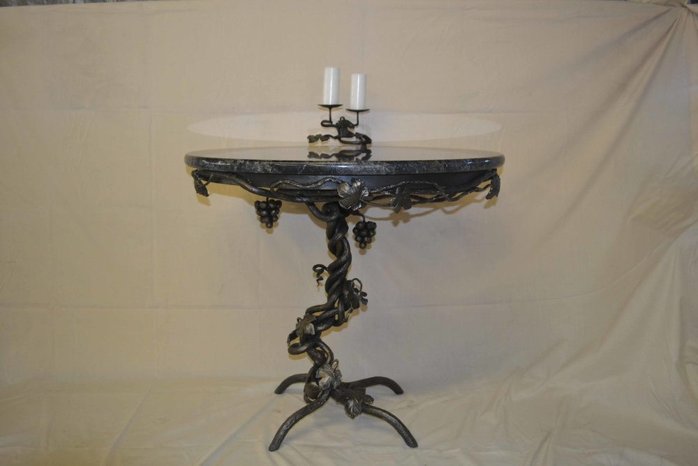 grape vine table with granite