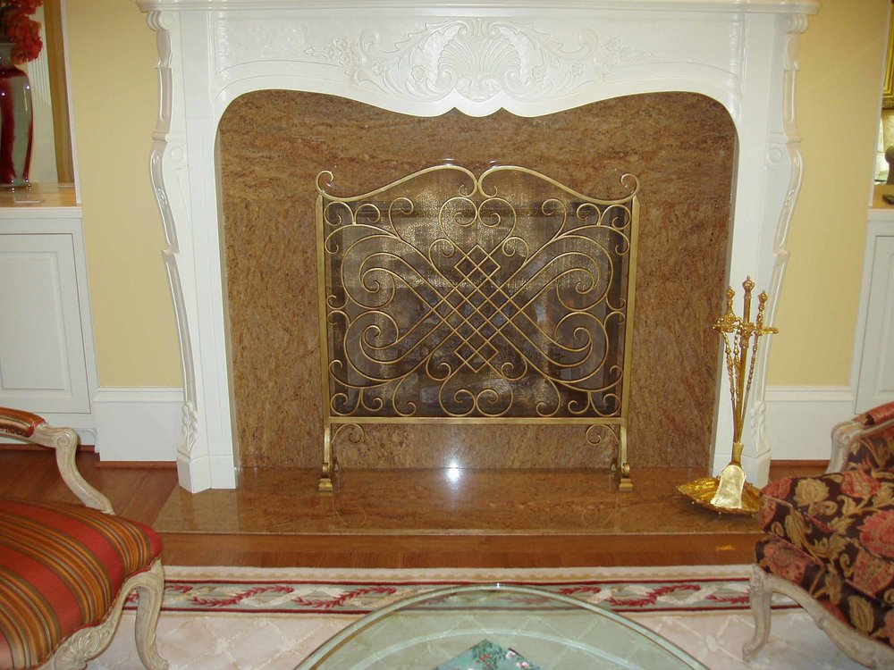 bronze fireplace doors
