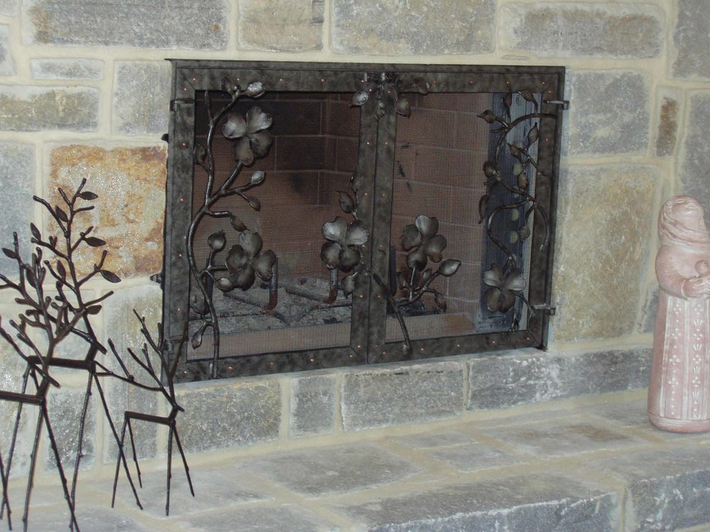 dogwood fireplace doors