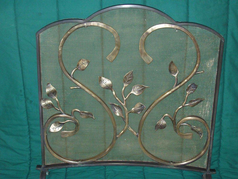 bronze firescreen