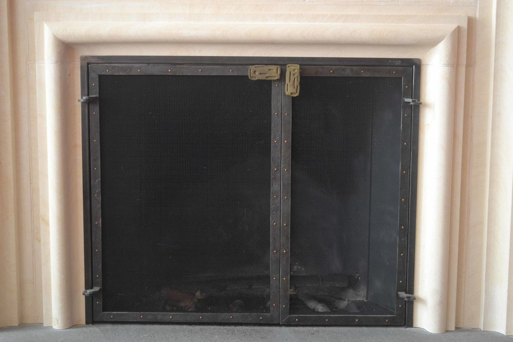 asymmetric fireplace screen doors