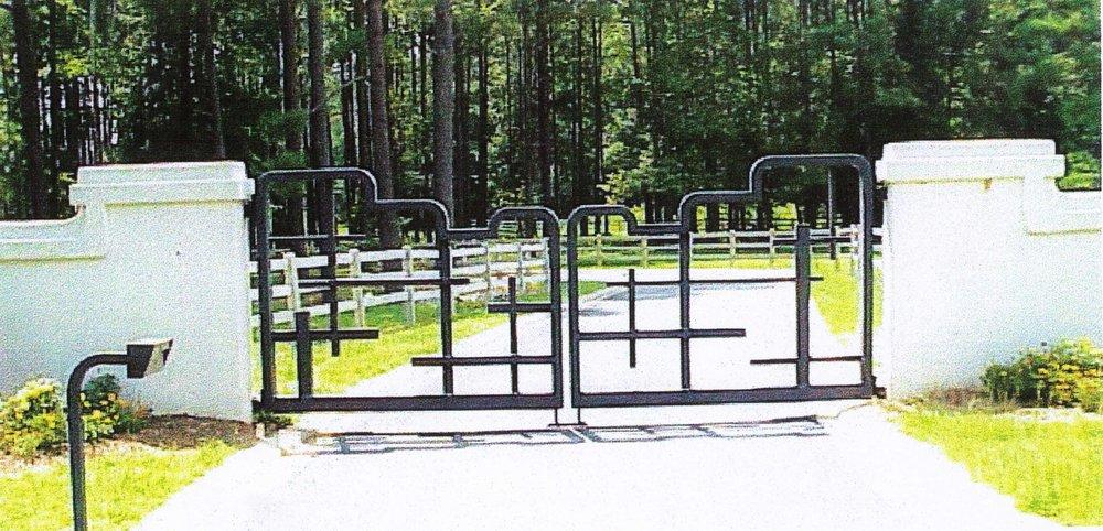southwest style driveway gate