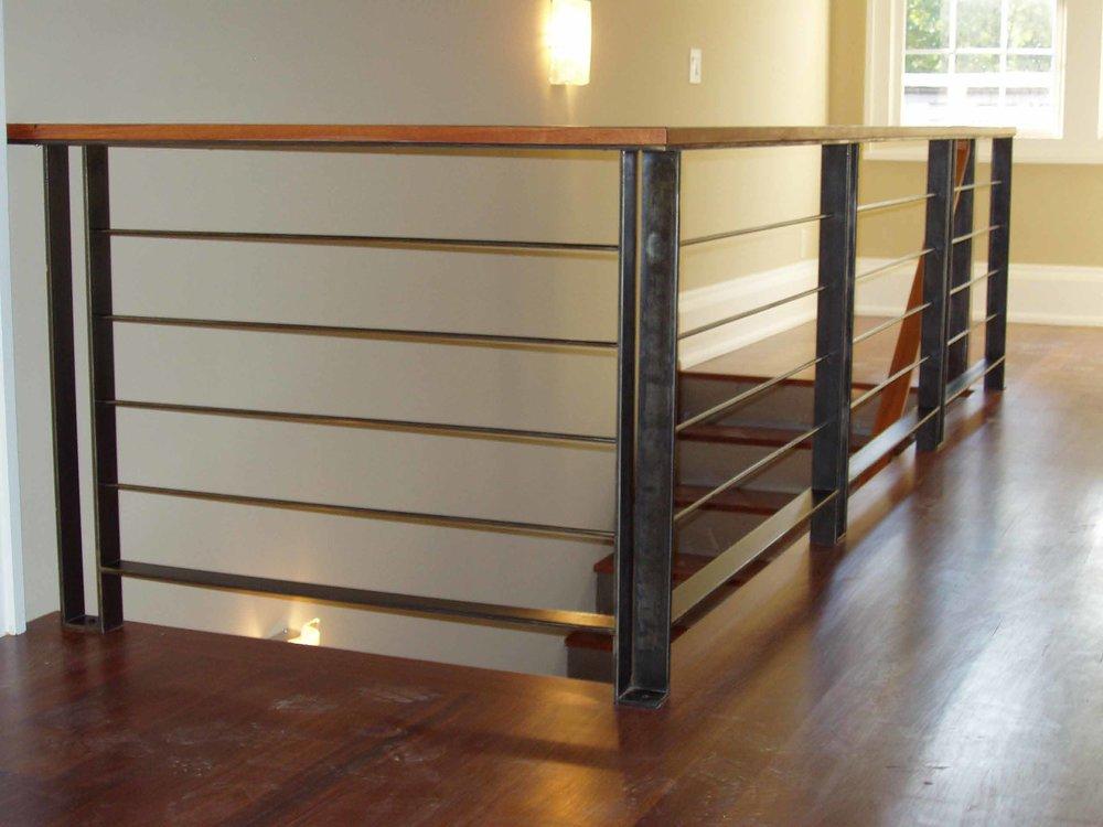modern horizontal railing