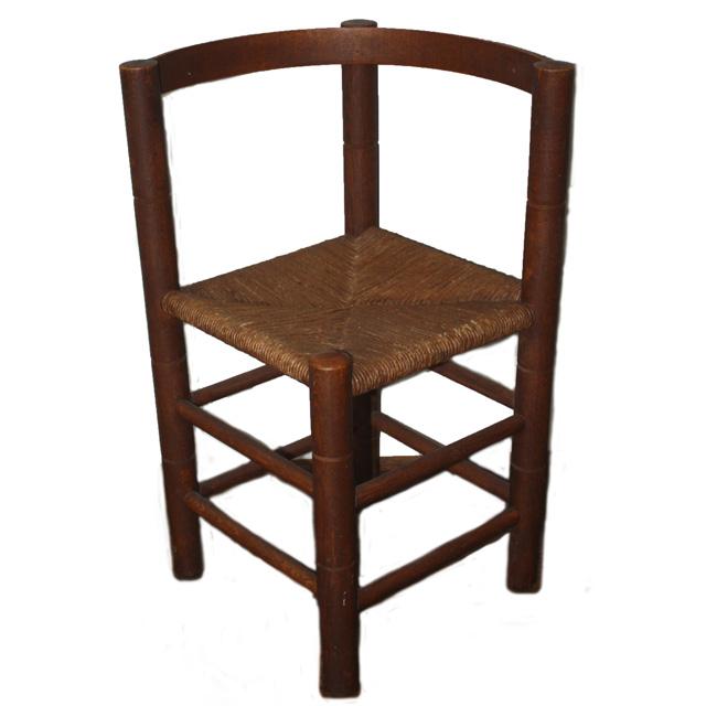 Oak and Rush Corner Chair, inquire at info@davidfrazier.co